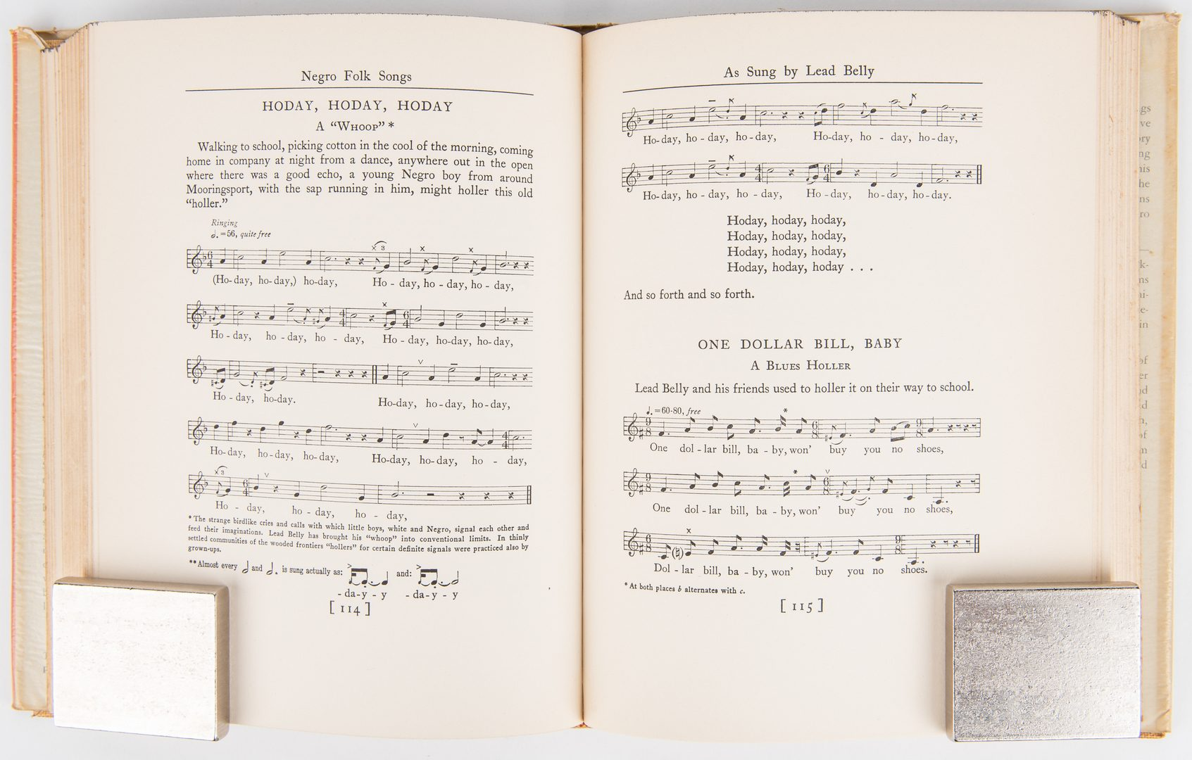 Lot 816: Lomax, Negro Folk Songs, 1936