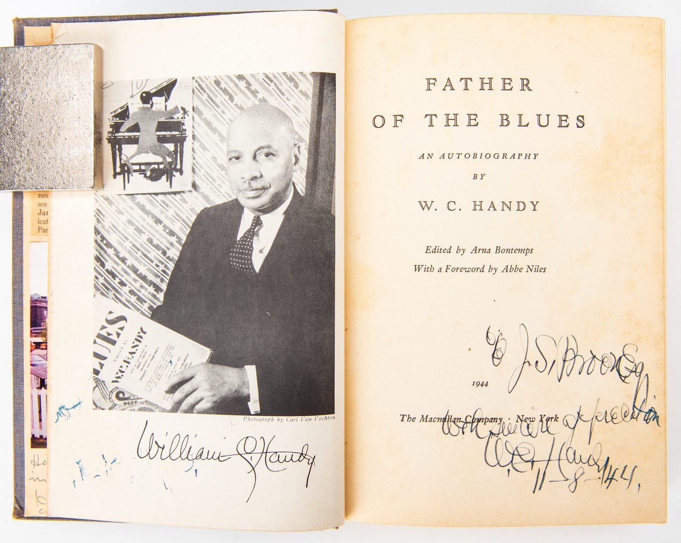 Lot 817: W. C. Handy, Father of the Blues Signed, 1944