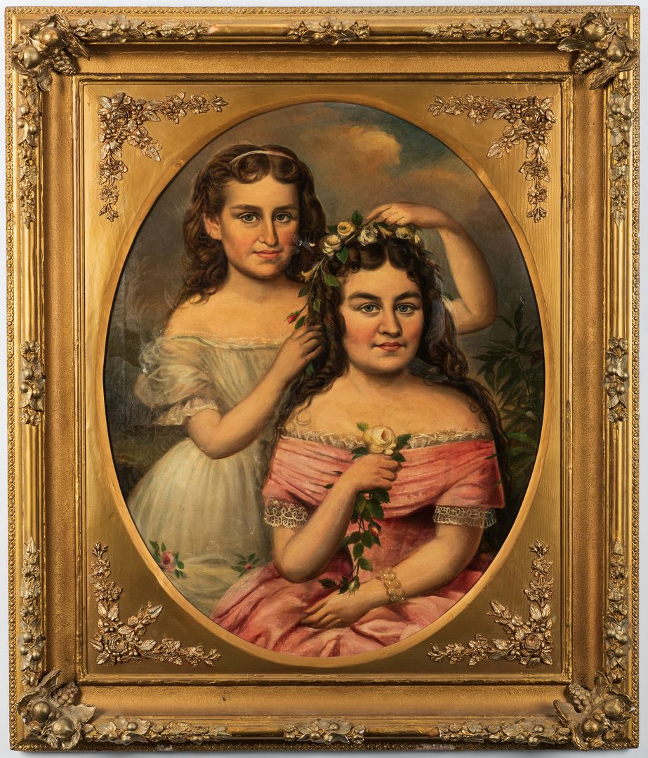 Lot 81: William Frye Portrait of Two Sisters