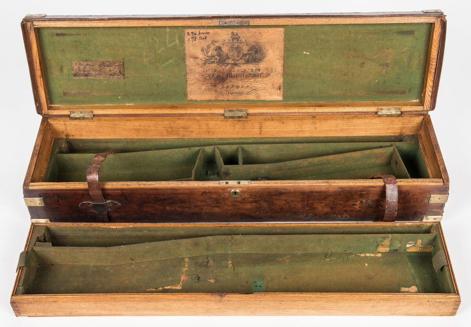 Lot 822: Leather Gun Case on custom stand