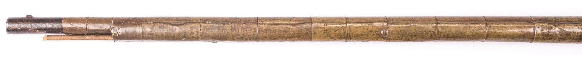 Lot 824: Portuguese Lazaro Lazarino Flintlock Long Rifle