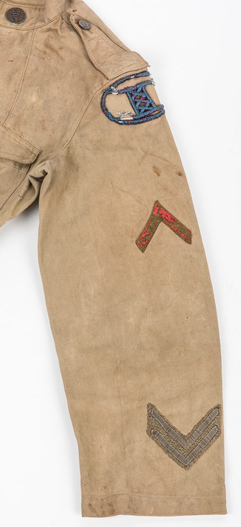 Lot 829: 6 WWI Military Items, inc. Jacket