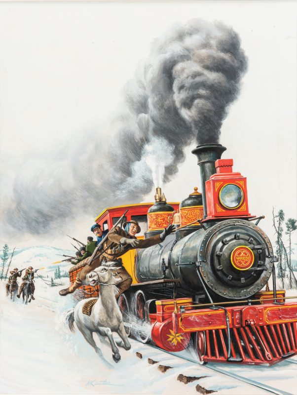 Lot 831: Mort Kunstler Watercolor & Gouache Painting