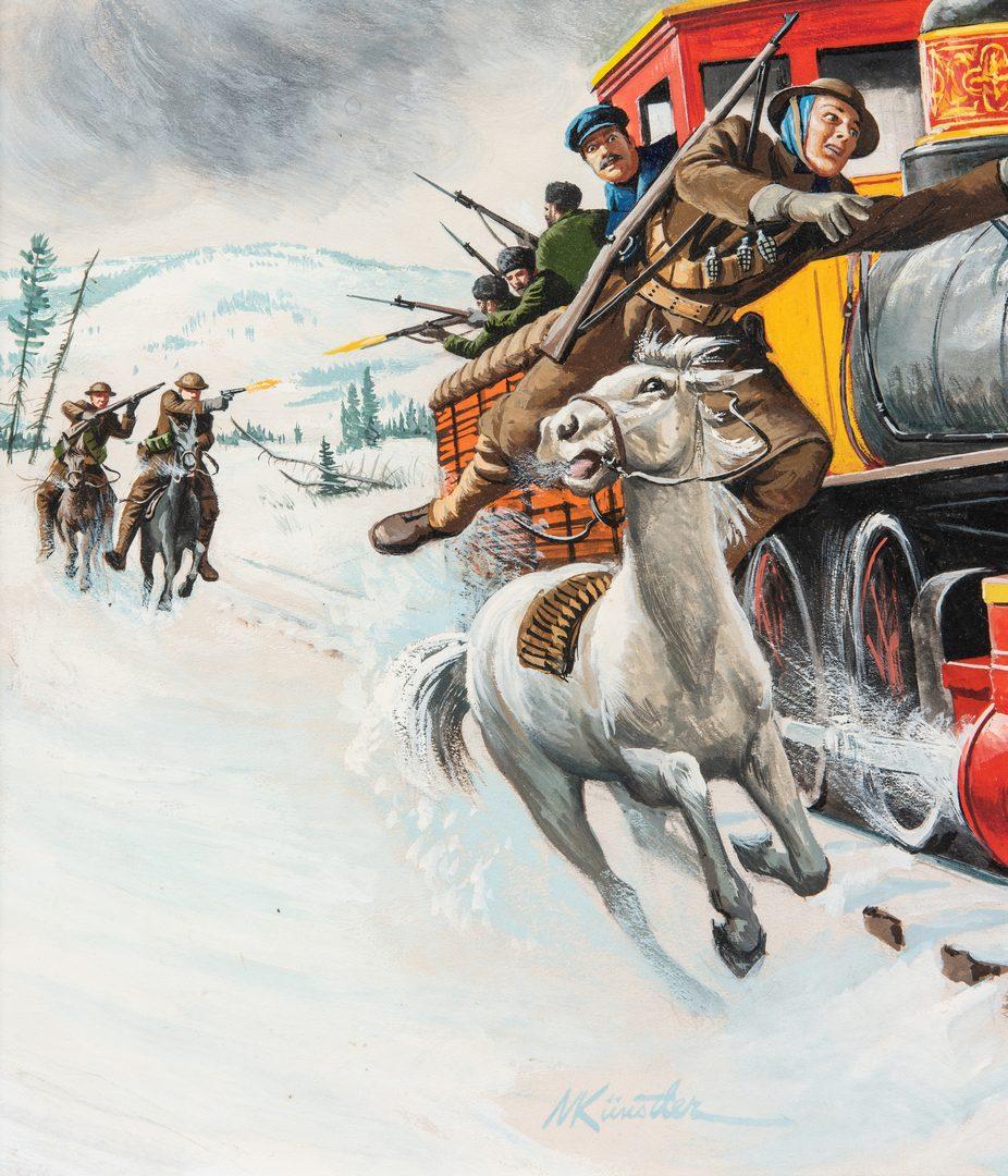 Lot 831: Mort Kunstler Watercolor & Gouache Painting