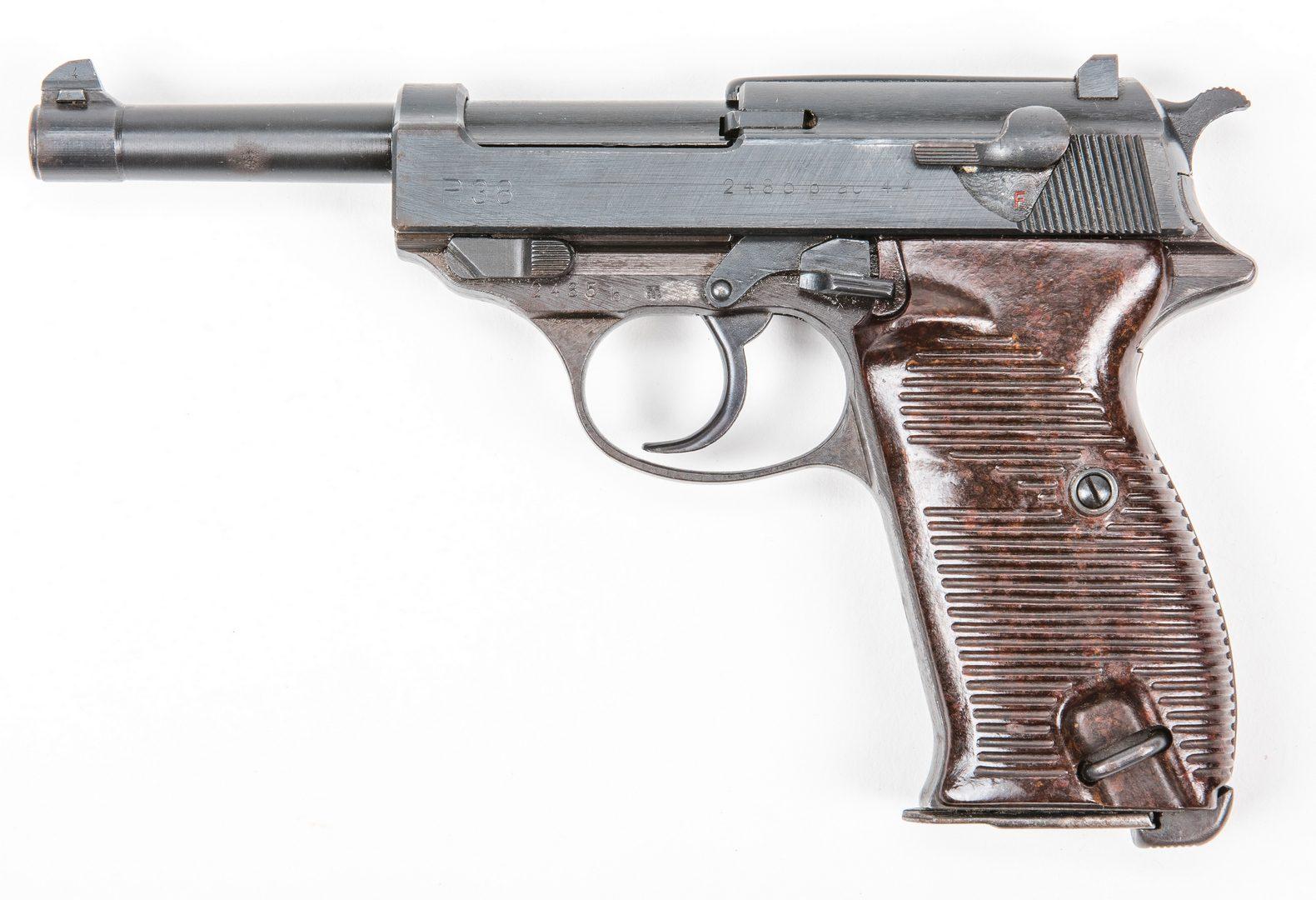 Lot 832: Nazi Walther P. 38 AC 44 Semi-Auto pistol