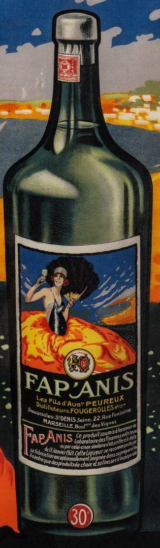 Lot 837: Delval French Advertising Poster, Fap' Anis Liquor