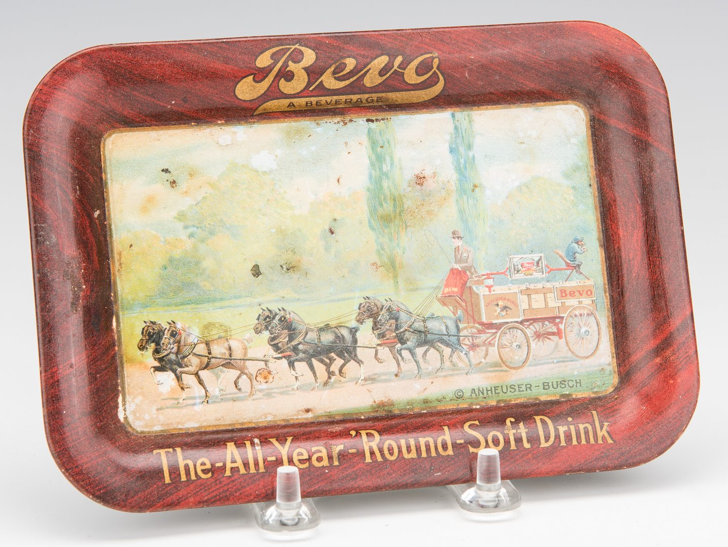 Lot 838: 4 Lithographed Tin Advertising Items