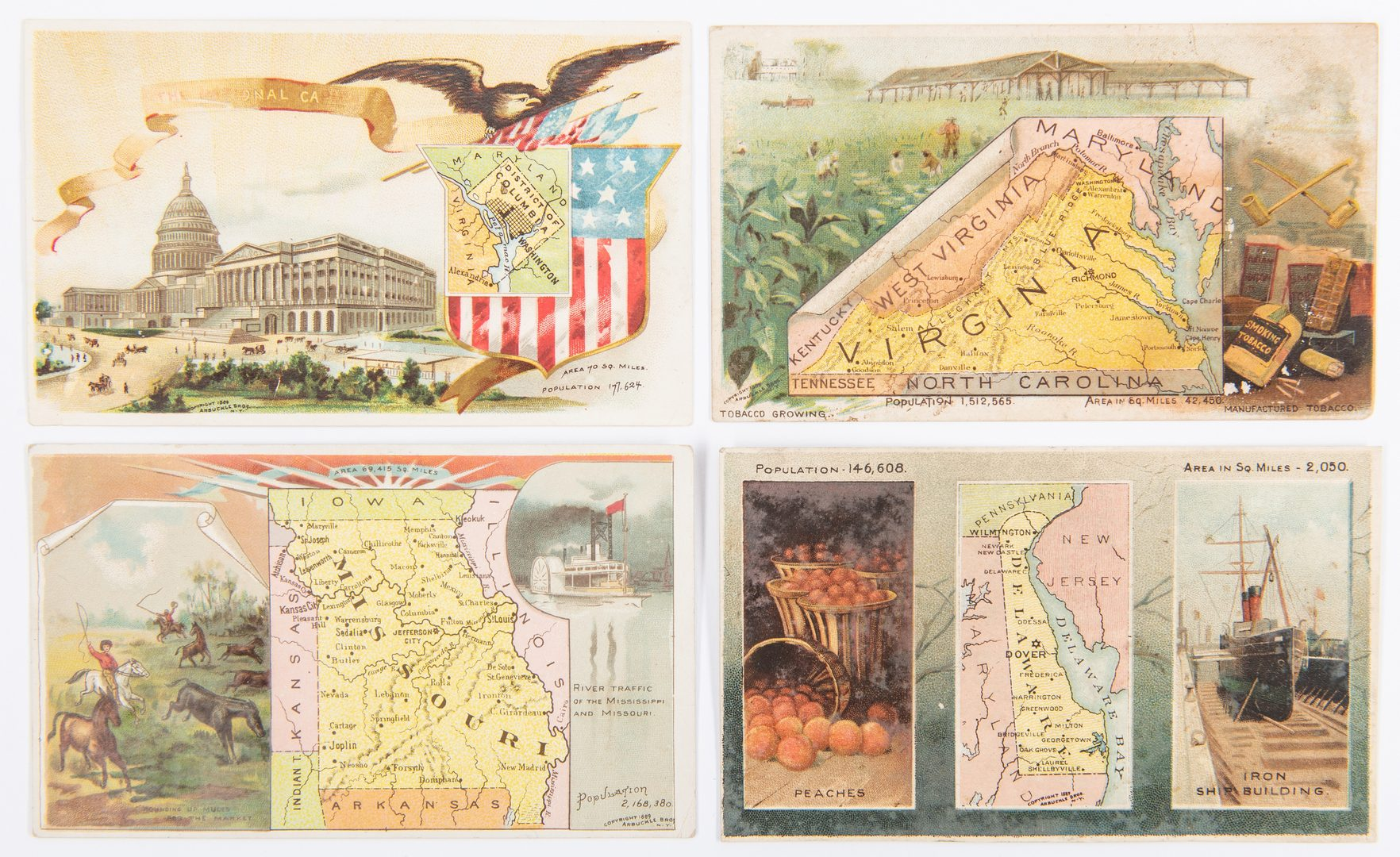 Lot 840: 160 Arbuckle Ariosa Coffee Trade Cards