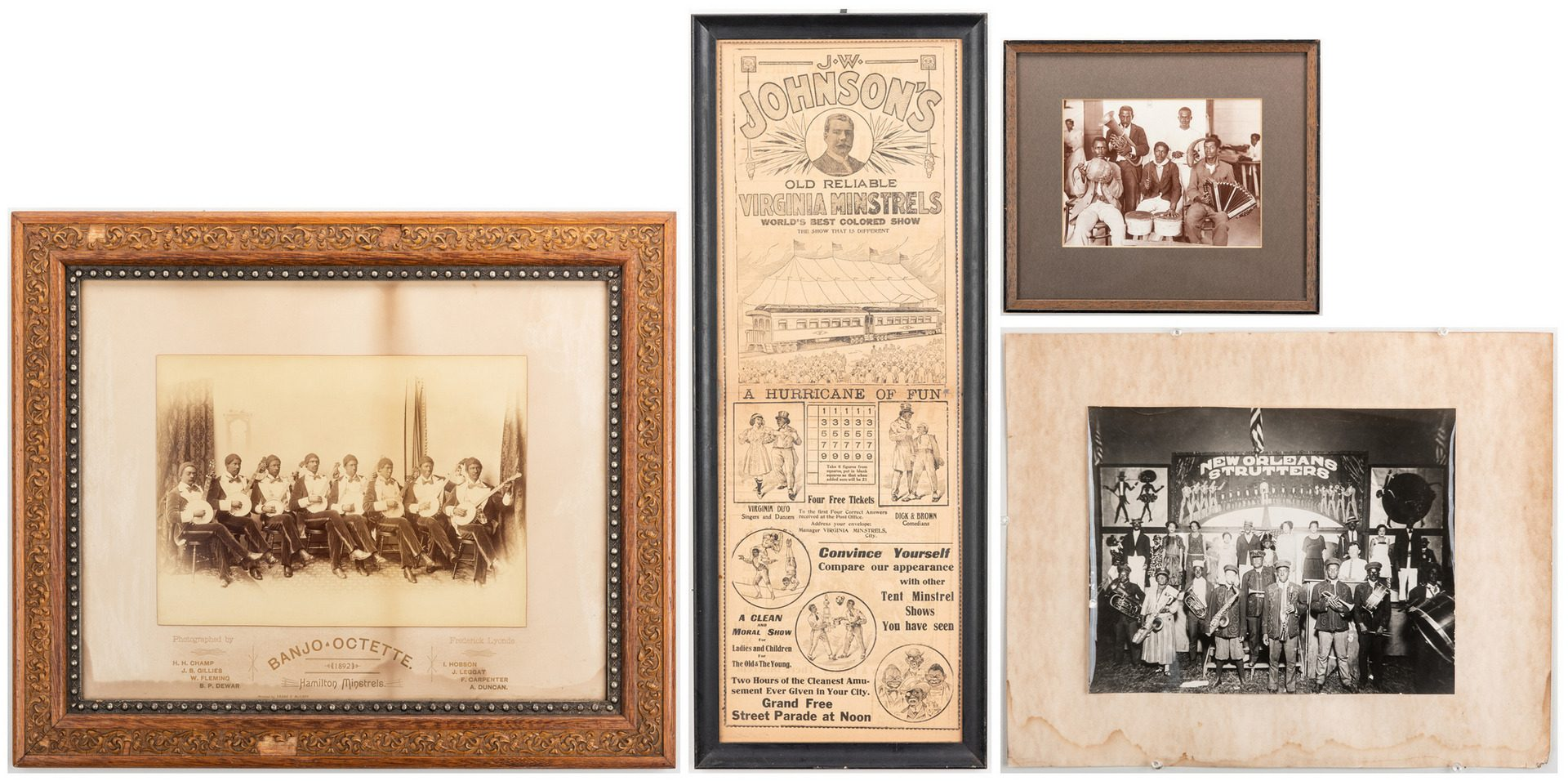 Lot 843: Group of Minstrel Ephemera, 7 items