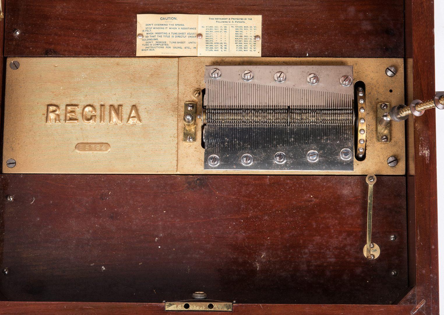 Lot 845: Regina Music Box & Disc