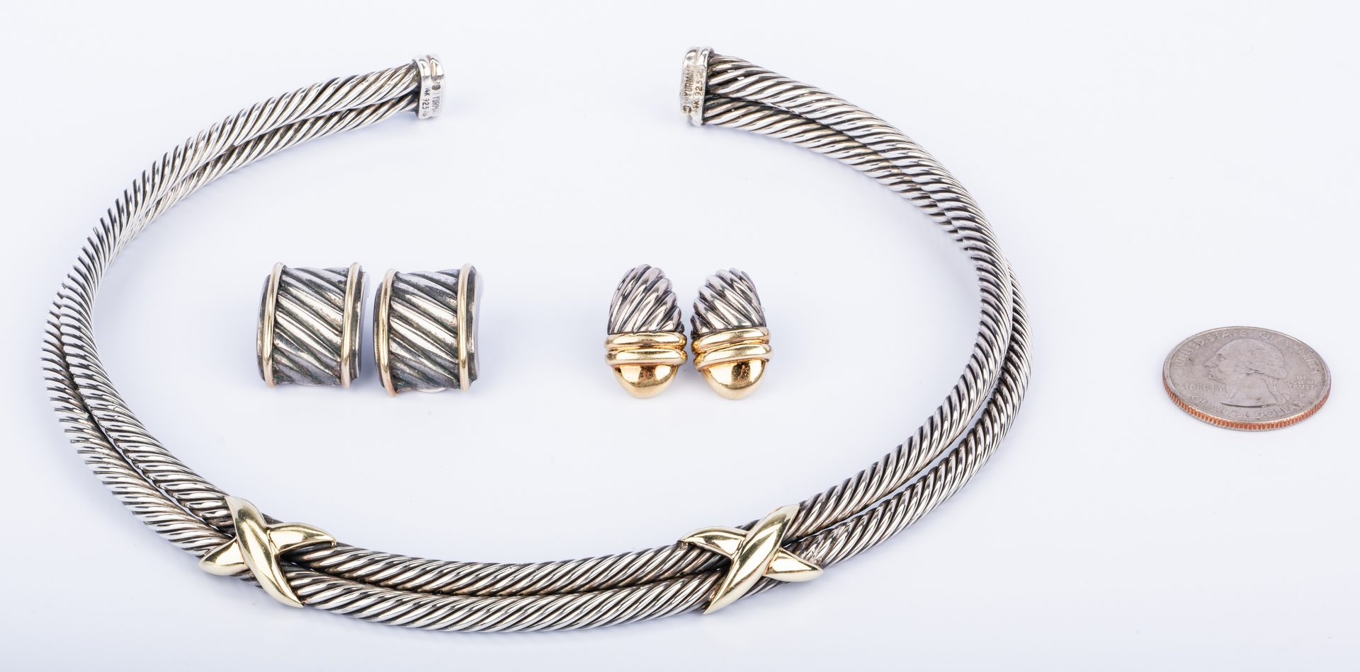 Lot 854: Group Yurman SS/14K Jewelry