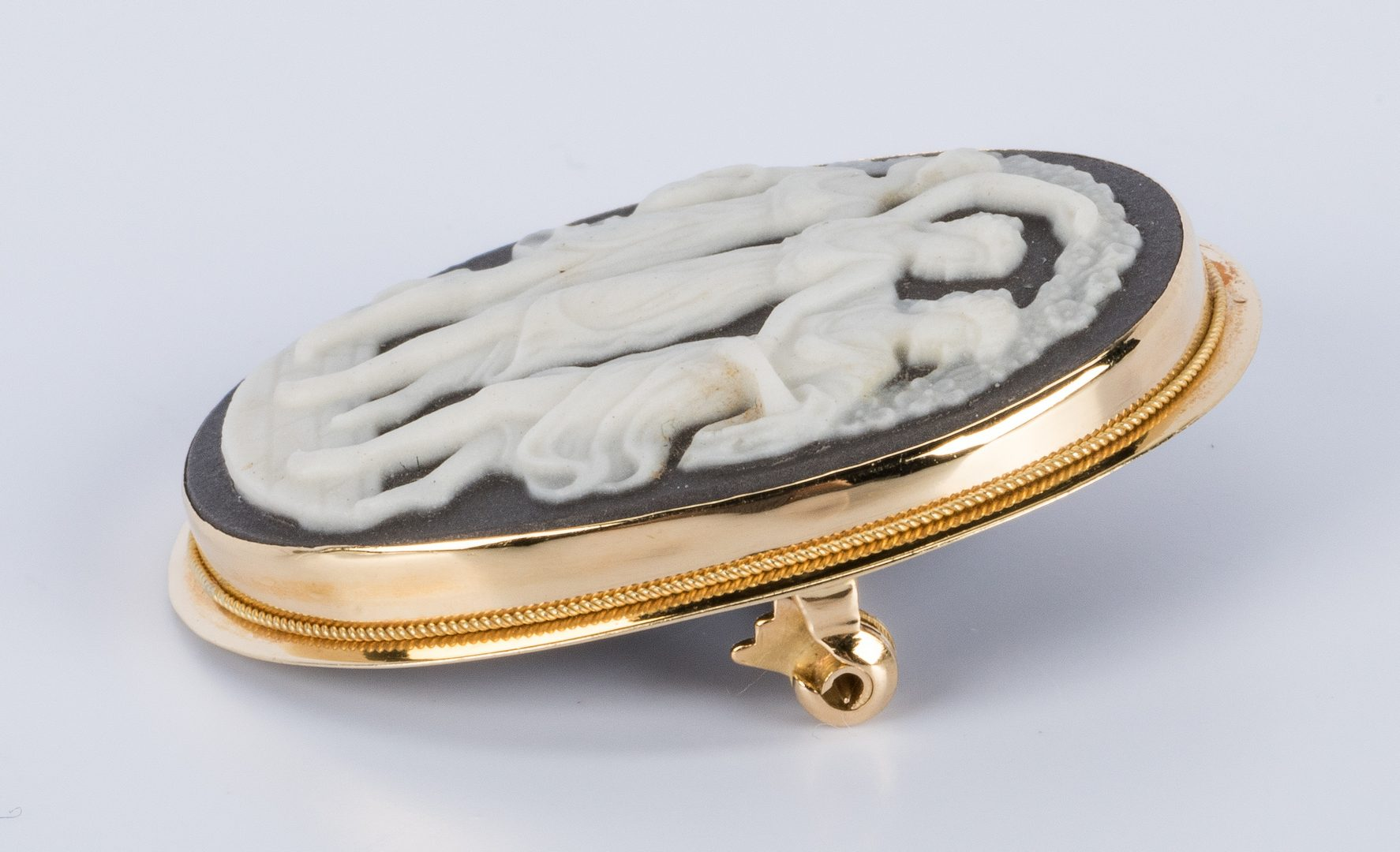Lot 855: Ladies Gold Watch and Cameo, 2 pcs