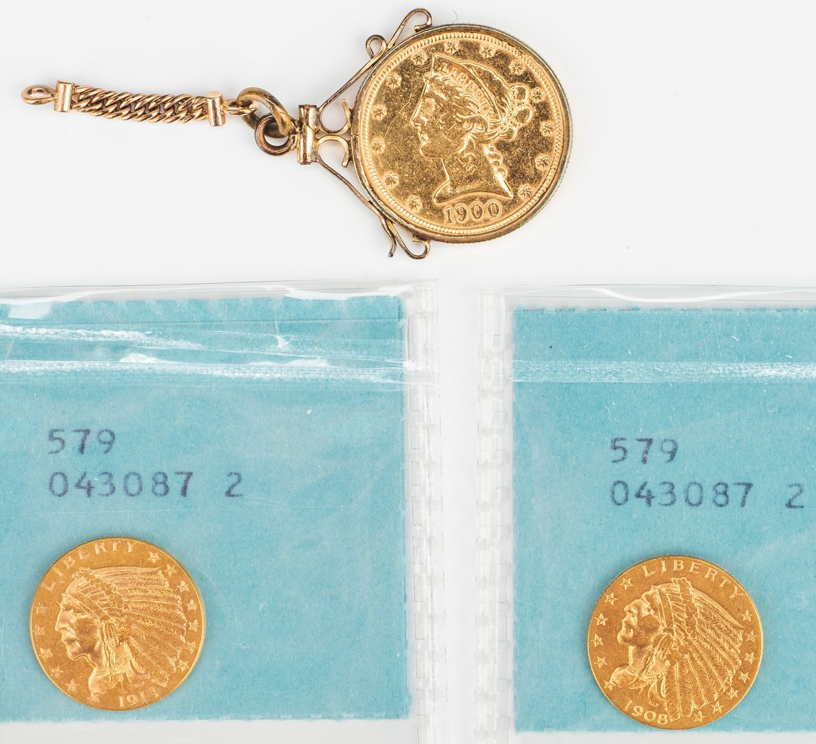 Lot 862: 3 Small gold coins
