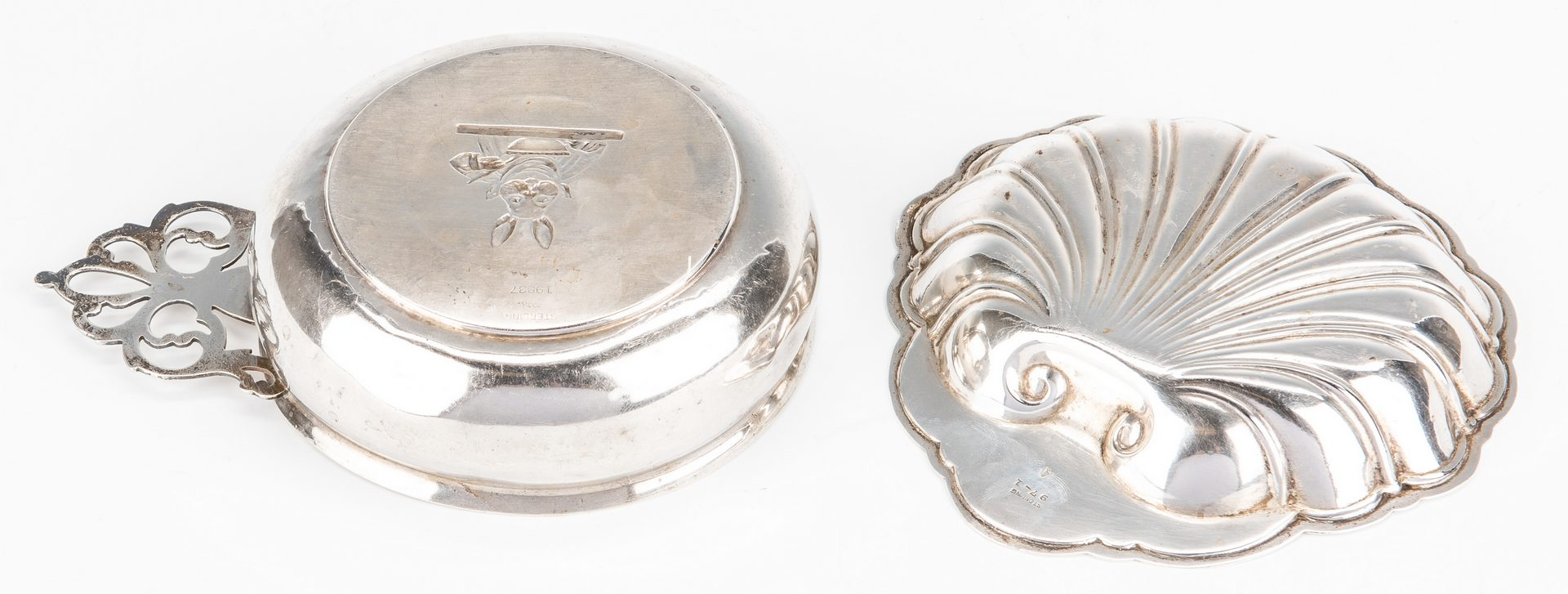 Lot 872: 5 Pcs Sterling: Jefferson bowl, baby items