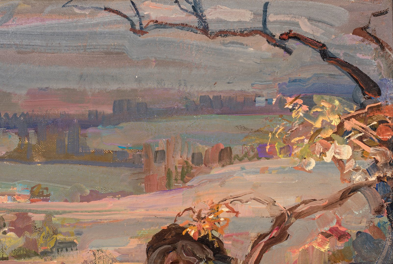 "Lot 87: Gladys Nelson Smith, O/C, ""Witches Wood"""