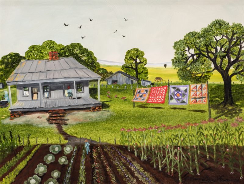 Lot 89: Helen LaFrance, O/C, Summer Farm Scene