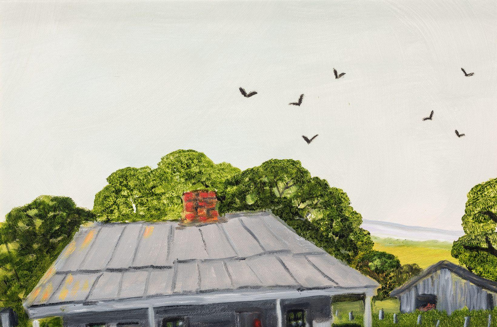 Lot 89: Helen LaFrance, O/C, Summer Farm Scene