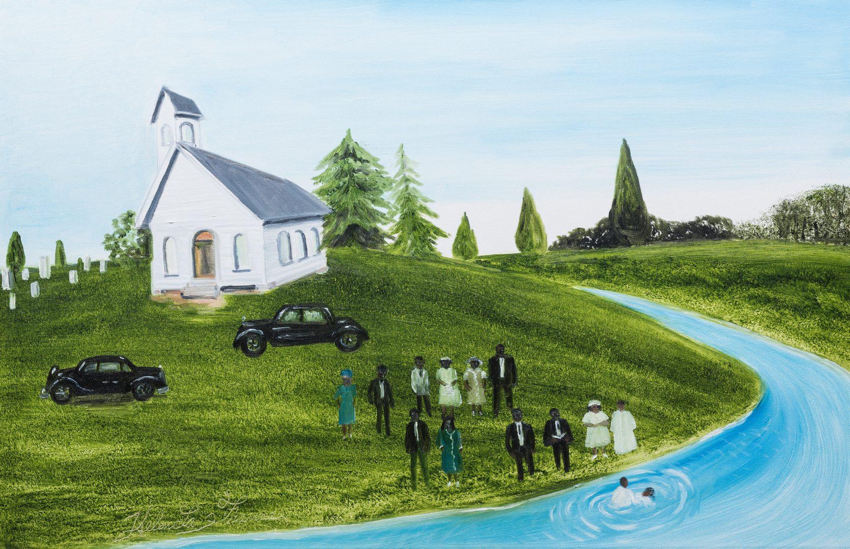 Lot 90: Helen LaFrance, O/C, River Baptism