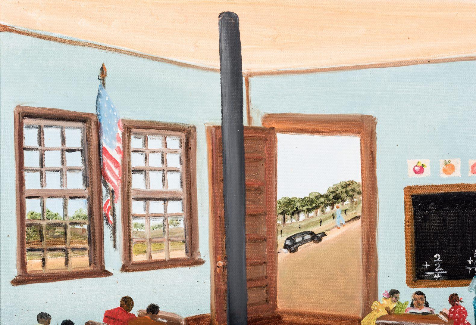 Lot 91: Helen LaFrance, O/B, Classroom Scene