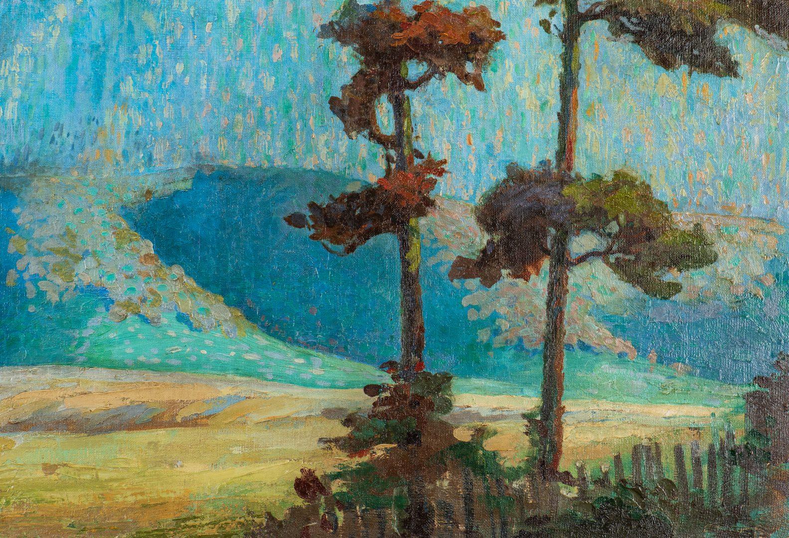 Lot 96: Hugh Tyler Oil on Canvas Landscape