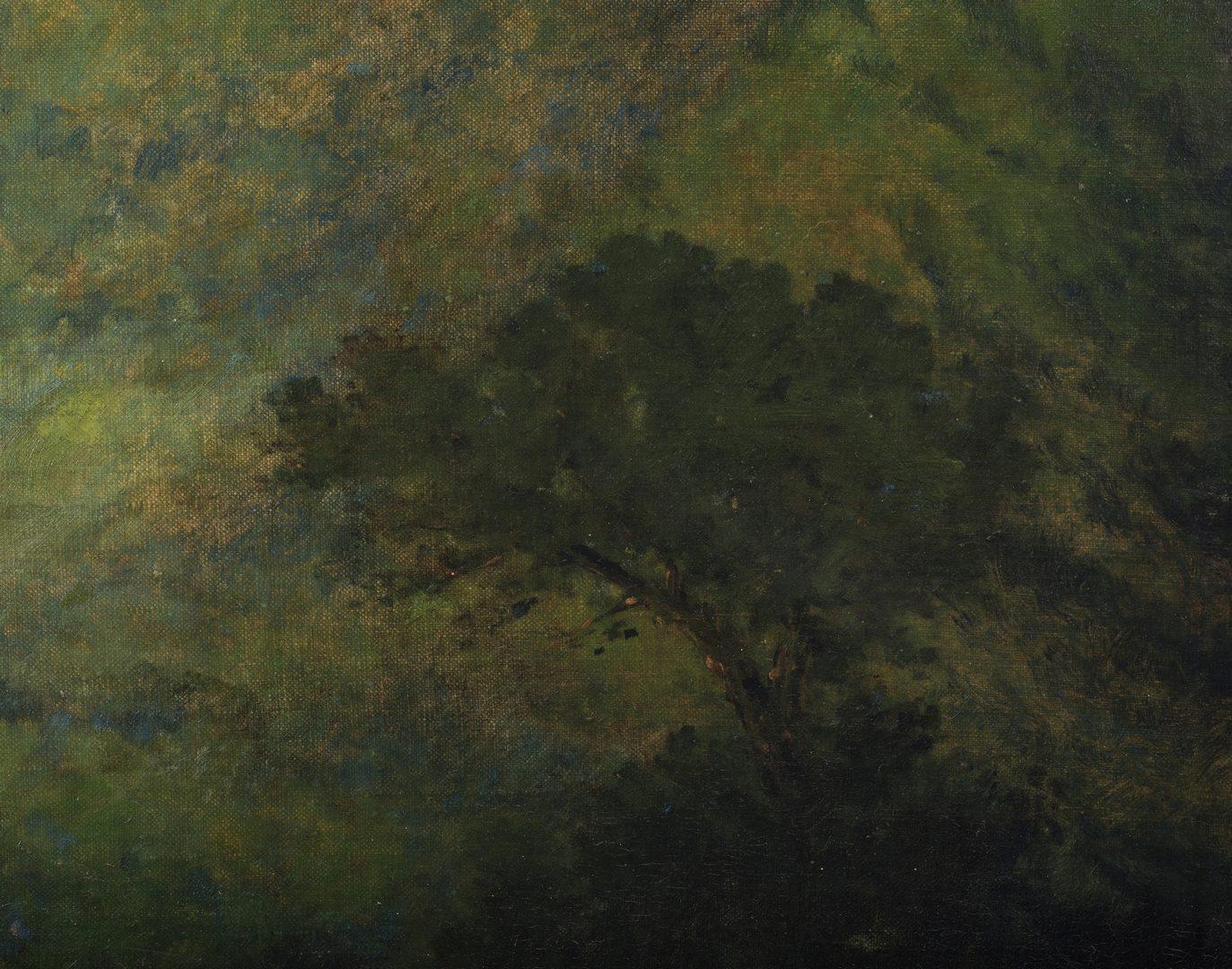 Lot 97: Large Charles Krutch Oil on Board Mountain Landscape