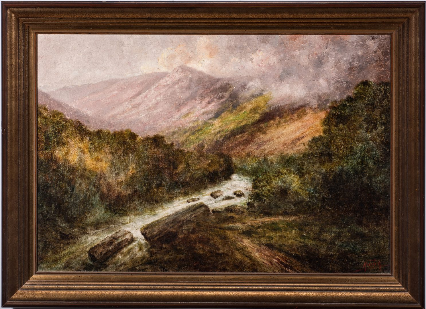Lot 98: Charles Krutch, O/B, Mountain Landscape