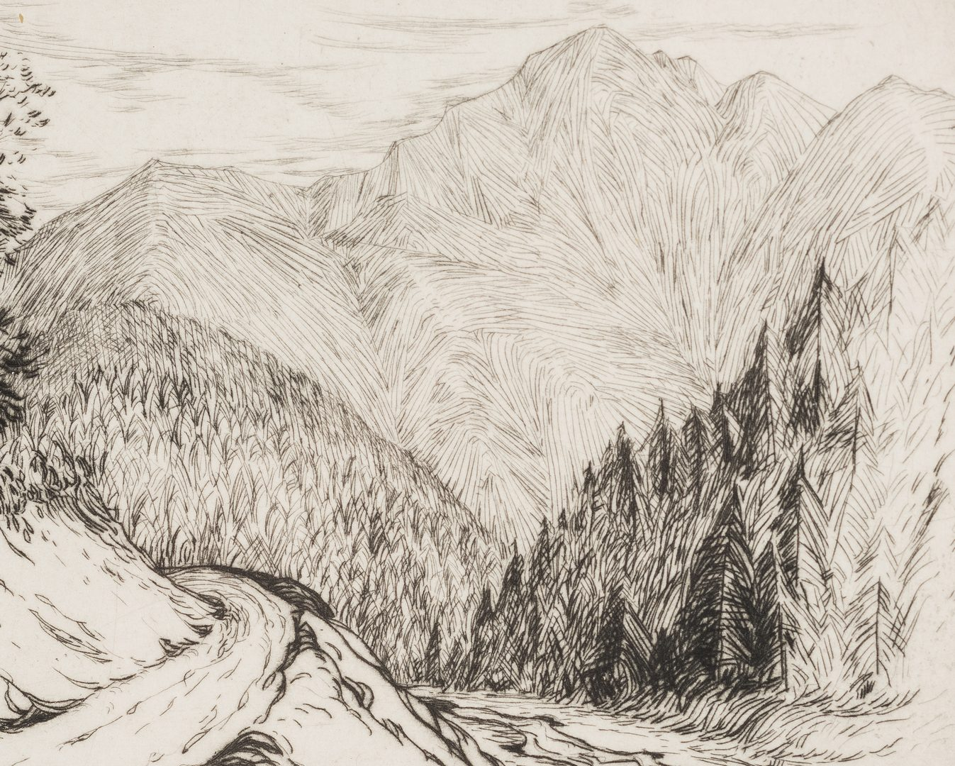Lot 99: 3 Louis Jones Drypoint Etchings
