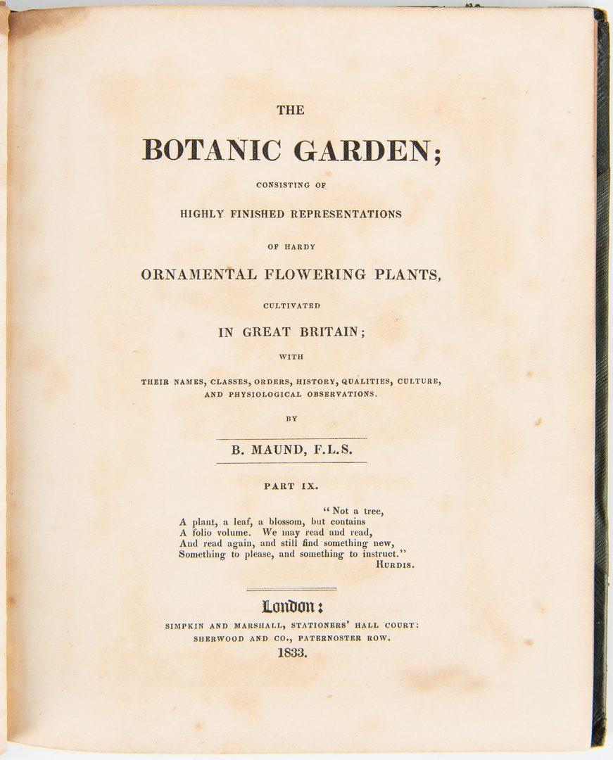 Lot 100: 10 B. Maund, Botanic Gardens, inc. 1825