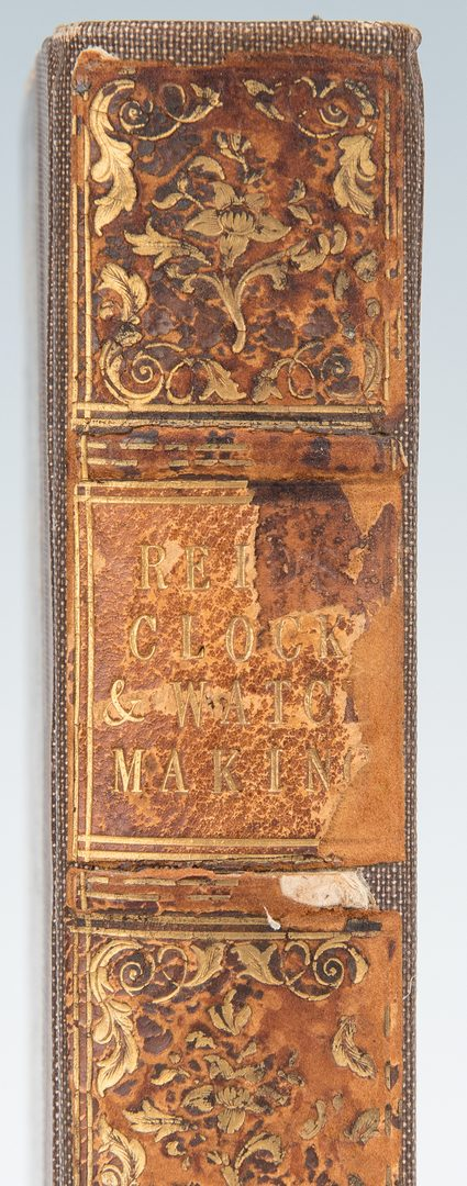 Lot 102: T. Reid, Treatise on Clock and Watch Making, 1st Ed., 1826