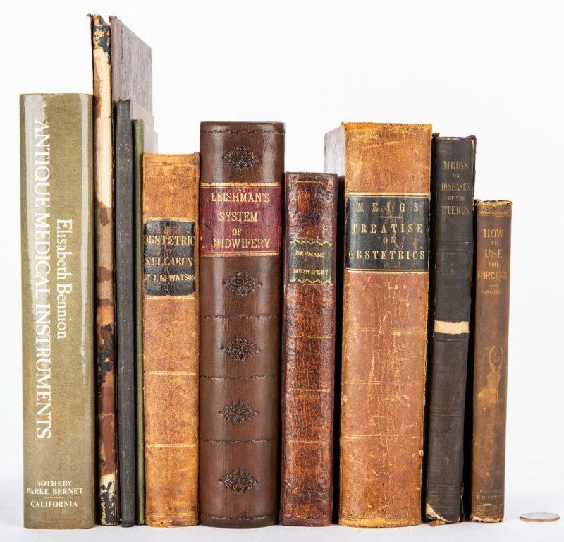 Lot 104: 10 Medical Books – Midwifery