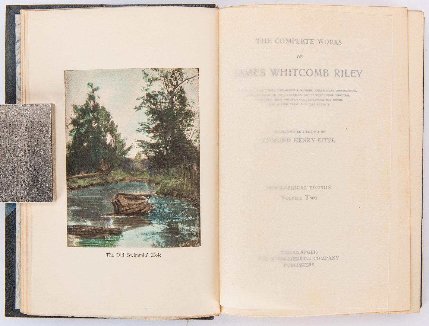Lot 107: The Complete Works of J.W. Riley, 6 Vols., 1913