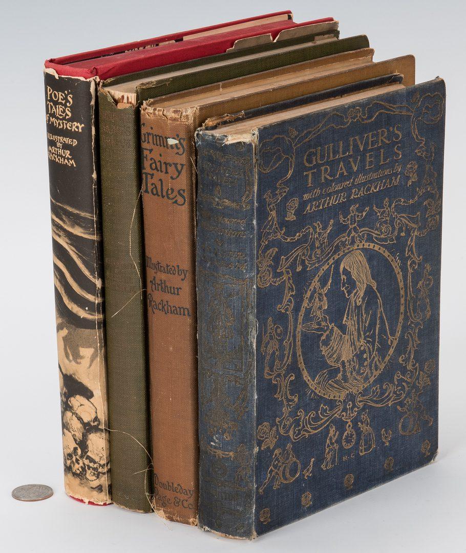 Lot 110: 4 Arthur Rackham illustrated books & 1 print, 5 items