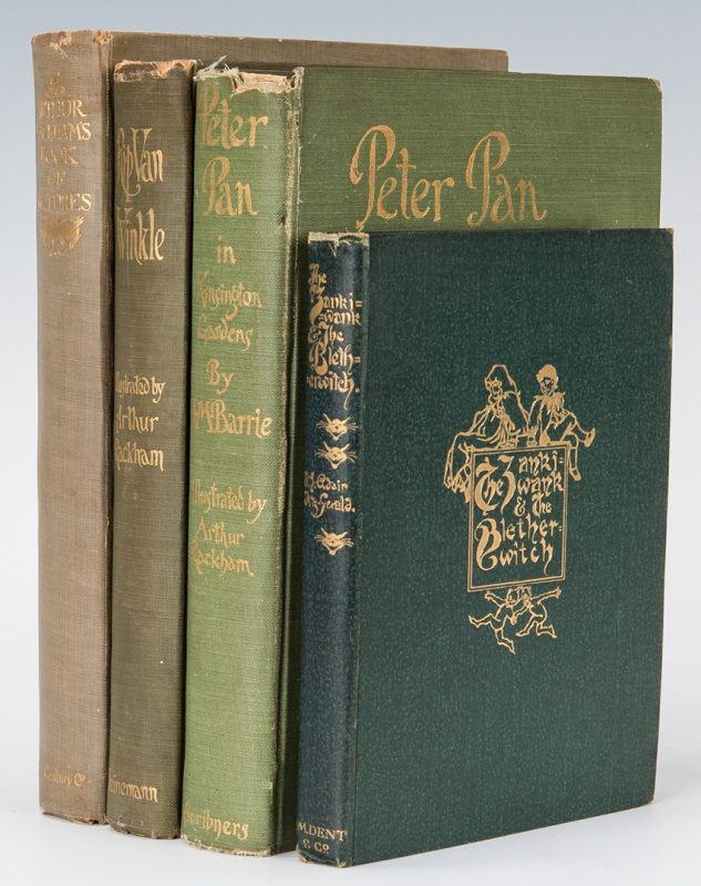 Lot 111: 4 Rackham Illustrated books, inc. 1st editions & Russell owned book