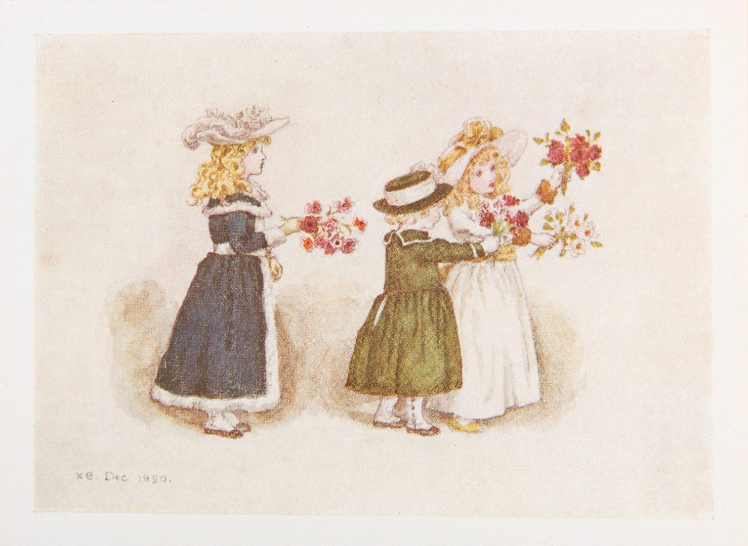 Lot 113: 4 Kate Greenaway Items, inc. Watercolor, Books
