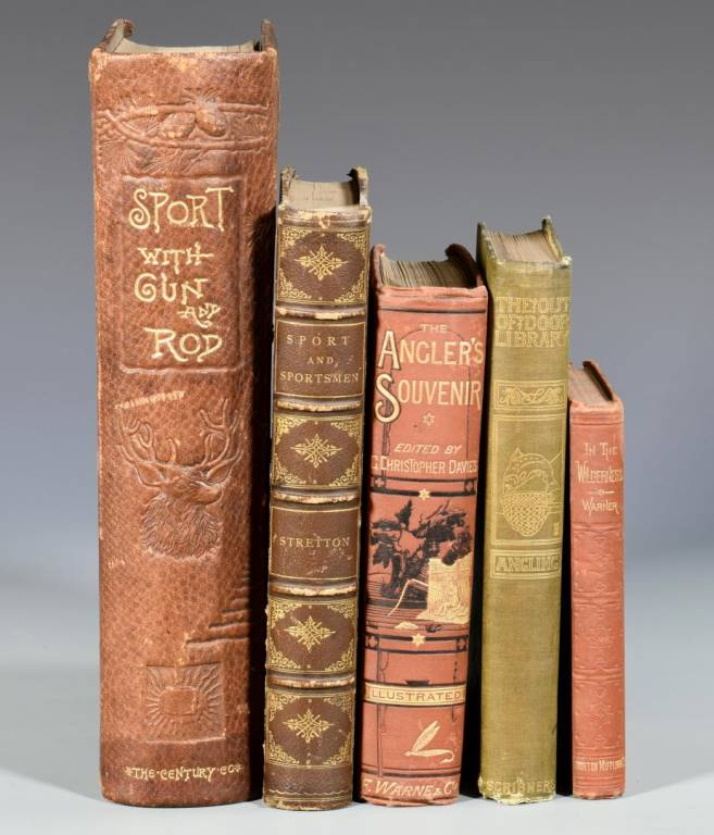 Lot 116: 5 Hunting and Fishing Books, 19th c.