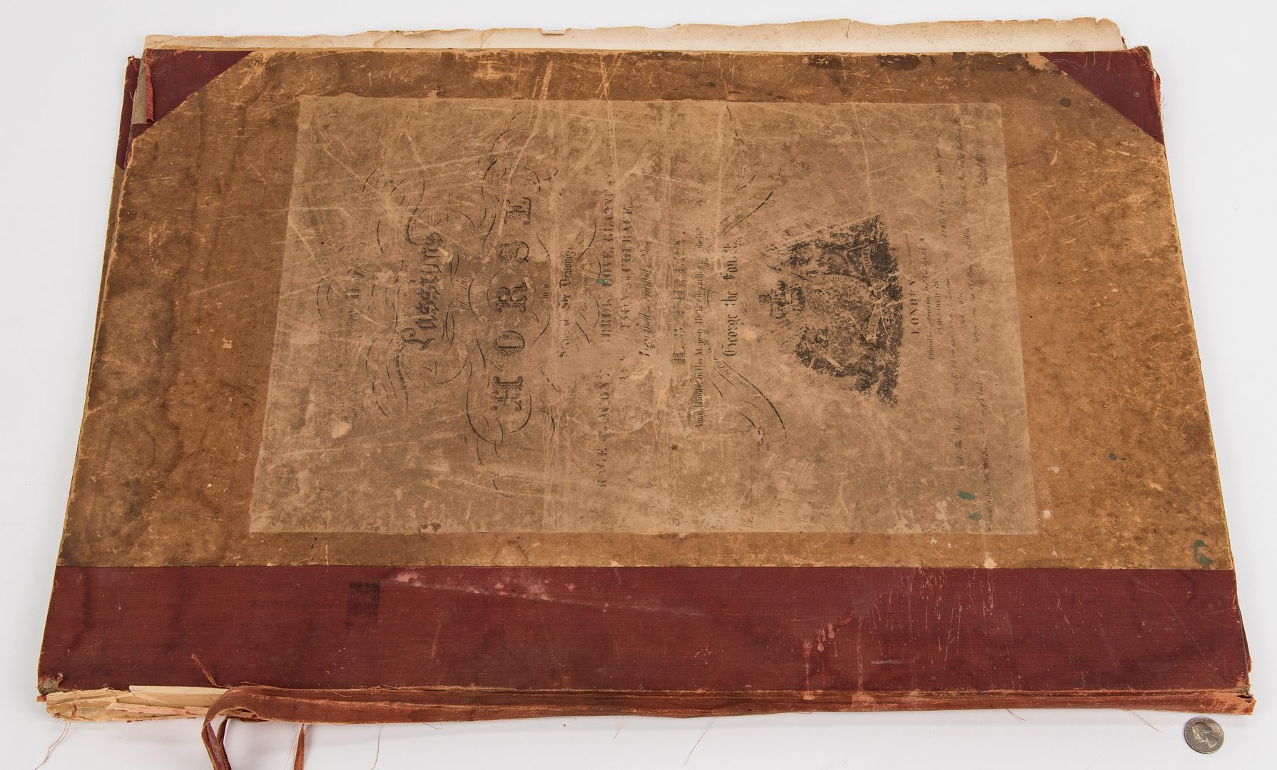 Lot 117: 1827 Folio of horse prints: Passions of the Horse