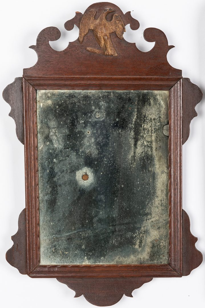 Lot 119: 4 Early Mirrors, Chippendale and Queen Anne
