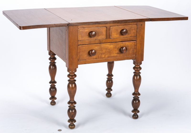 Lot 121: TN/KY Three Drawer Sheraton Table