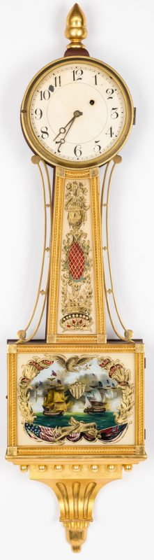 Lot 125: Federal style Banjo Clock