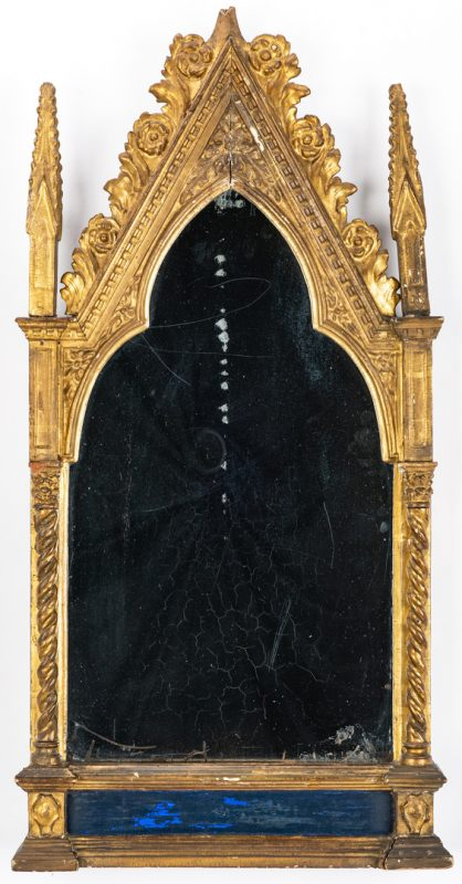 Lot 126: Continental Gothic Style Gilt Wall Mirror