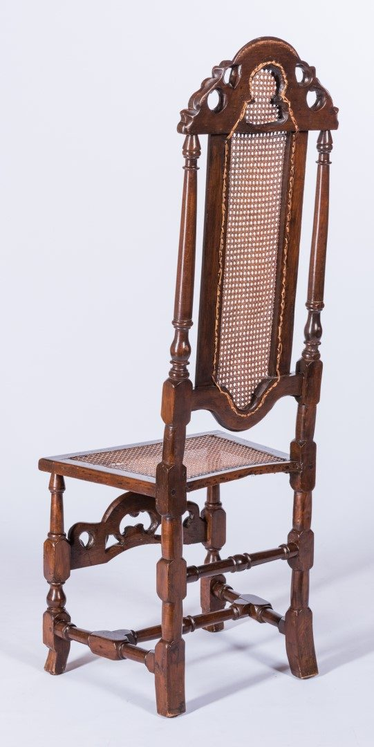 Lot 131: William & Mary Carved High Back Chair