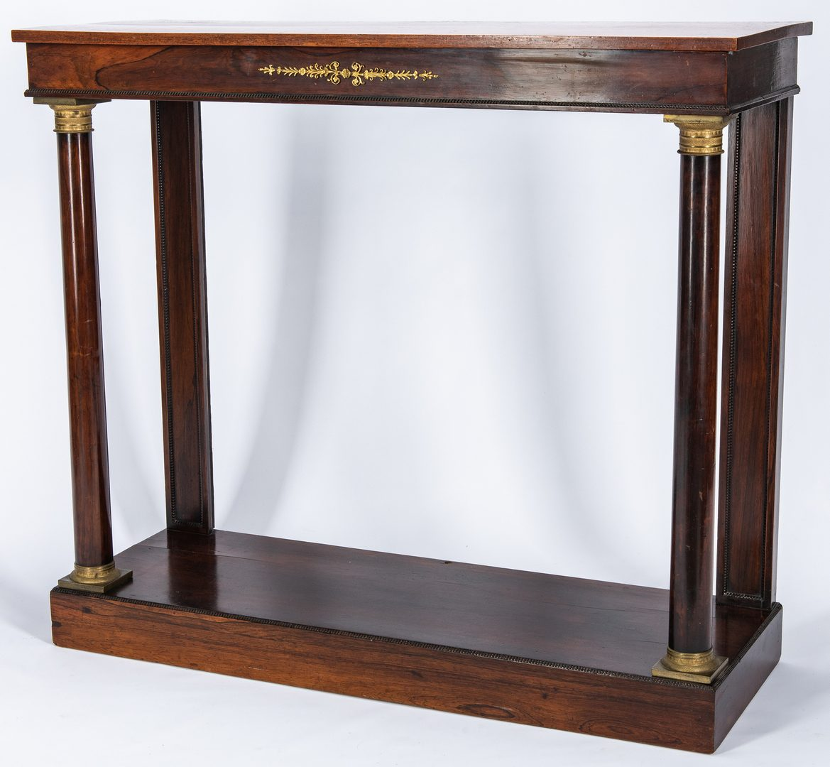 Lot 132: Regency Rosewood Console Table