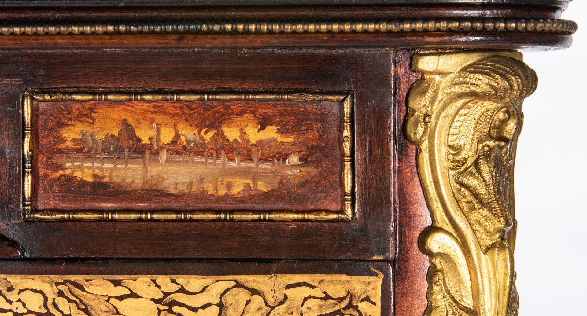 Lot 135: French Vitrine w/ Painted Scenes