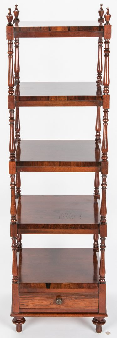Lot 136: English Regency Style Rosewood Etagere