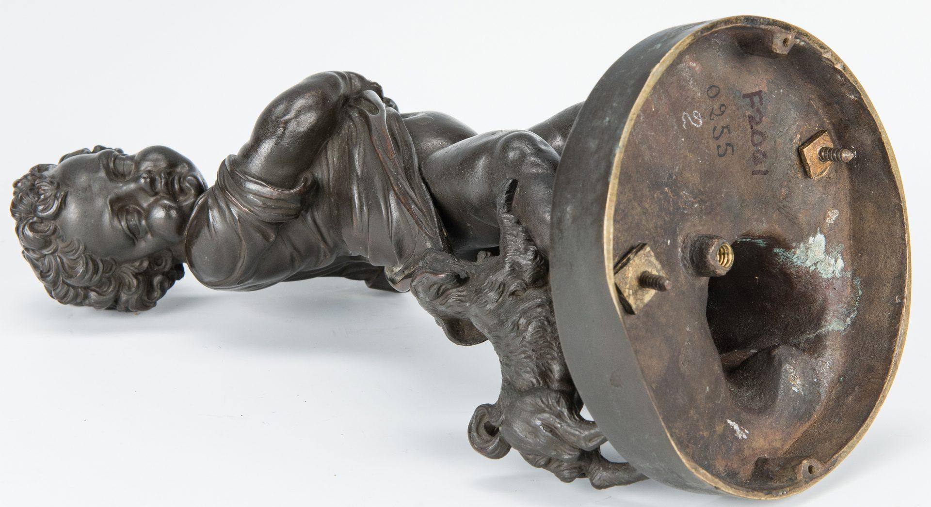 Lot 138: Pair French Bronze Putti Figurals