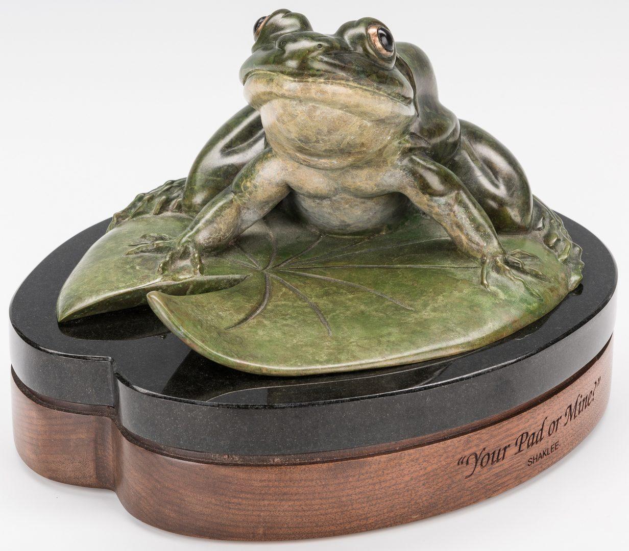 Lot 139: Kim Shaklee Bronze Frog Sculpture