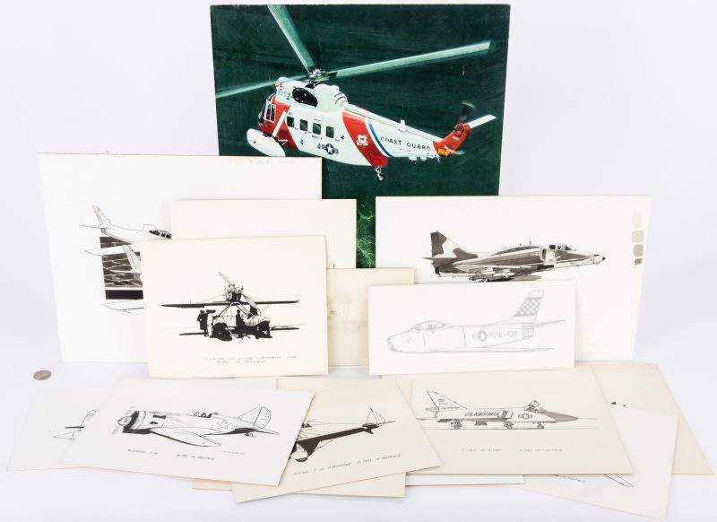 Lot 144: James Caulfield Aviation Artworks, 15 items