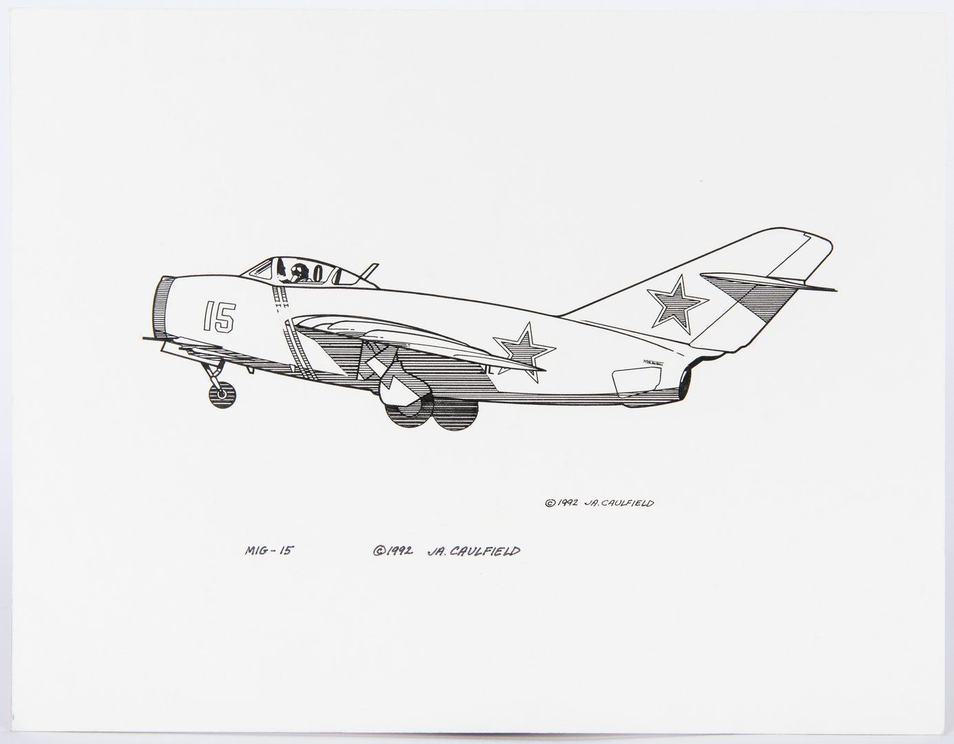 Lot 144: James Caulfield Aviation Artworks, 15 items