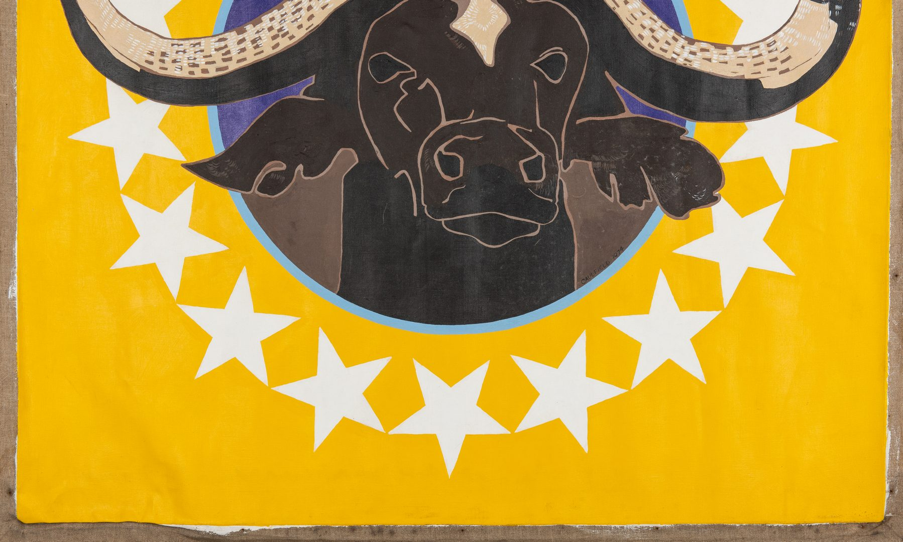 Lot 145: James Caulfield Water Buffalo Painting
