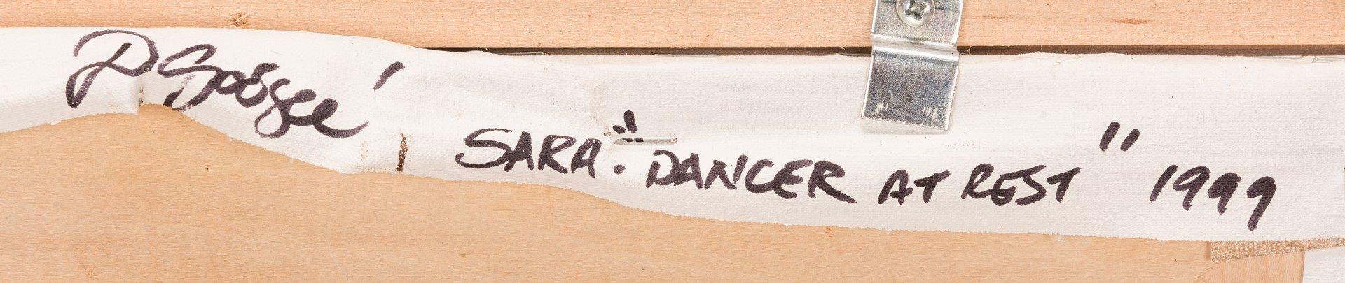 """Lot 150: Dan Goozee, O/C, """"Sara, Dancer at Rest"""""""